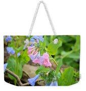 Pink Bluebells Weekender Tote Bag