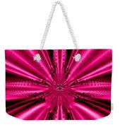 Pink Brocade Fabric Fractal 55 Weekender Tote Bag