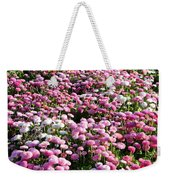 Pink Button Pom Flowers Weekender Tote Bag