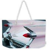 Pink Cadillac Eldorado Tail Fin Weekender Tote Bag