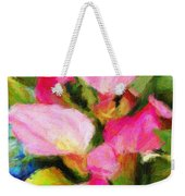 Pink Calla Lilly Weekender Tote Bag