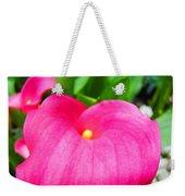 Pink Calla Lily Macro Flower Art Print Lilies Baslee Troutman Weekender Tote Bag