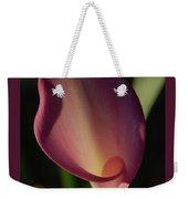 Pink Calla Lily - Vertical Weekender Tote Bag