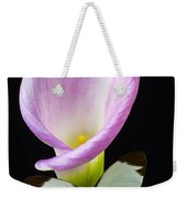 Pink Calla Lily With White Butterfly Weekender Tote Bag