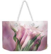 Pink Callas In Calla Vase Weekender Tote Bag