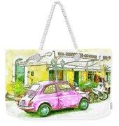 Pink Car Weekender Tote Bag