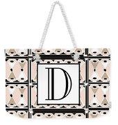 Pink Champagne Deco Monogram  D Weekender Tote Bag