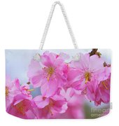 Pink Cherry Blossom Cluster Weekender Tote Bag