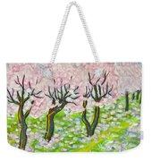 Pink Cherry Garden In Blossom Weekender Tote Bag