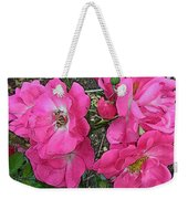Pink Climbing Roses - Digitally Enhanced Weekender Tote Bag