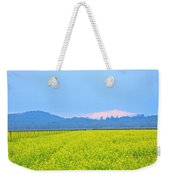 Pink Cloud Over The Mustard Fields Weekender Tote Bag