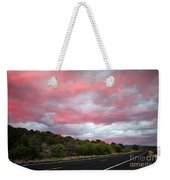 Pink Clouds Over Arizona Weekender Tote Bag