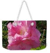 Pink Confederate Rose Weekender Tote Bag