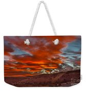 Pink Cotton Candy Sunrise Weekender Tote Bag