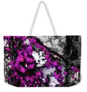 Pink Crape Myrtles Abstract Weekender Tote Bag