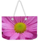 Pink Daisy With Raindrops Weekender Tote Bag