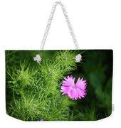 Pink Dianthus With Nigella Buds Weekender Tote Bag