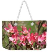 Pink Dogwood Blossoms Weekender Tote Bag