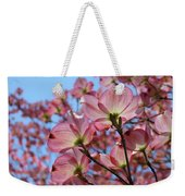 Pink Dogwood Flowers Landscape 11 Blue Sky Botanical Artwork Baslee Troutman Weekender Tote Bag