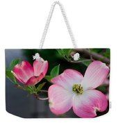 Pink Dogwood In The Morning Light Weekender Tote Bag