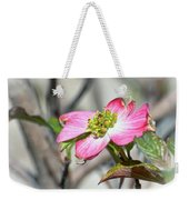 Pink Dogwood Weekender Tote Bag by Kerri Farley