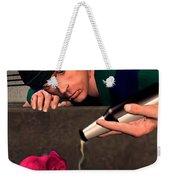 Pink Elepant Weekender Tote Bag