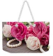 Pink Eustoma Flowers  Weekender Tote Bag