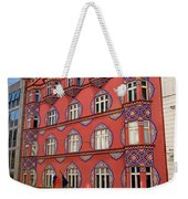 Pink Facade Of The Cooperative Business Bank Building Called Vur Weekender Tote Bag