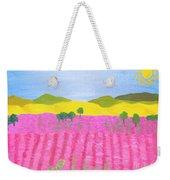 Pink Field Weekender Tote Bag