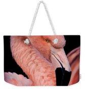 Pink Flamingo Portrait Weekender Tote Bag