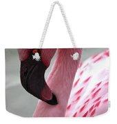 Pink Flamingo Profile Weekender Tote Bag