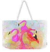 Pink Flamingos In The Park Weekender Tote Bag