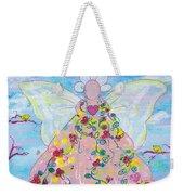 Pink Flower Angel Weekender Tote Bag
