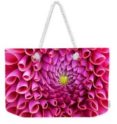Pink Flower Close Up Weekender Tote Bag