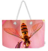 Pink Flower Fly Weekender Tote Bag