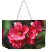 Pink Flowering Quince Weekender Tote Bag