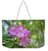 Pink Flowering Rhododendron Bush In Full Bloom Weekender Tote Bag