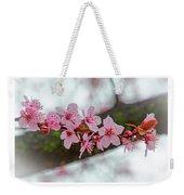 Pink Flowering Tree - Crabapple With Drops Weekender Tote Bag