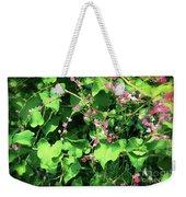Pink Flowering Vine2 Weekender Tote Bag