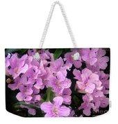 Pink Flowers. 6-22-17 Weekender Tote Bag