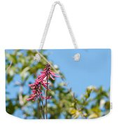 Pink Flowers At Coba Weekender Tote Bag