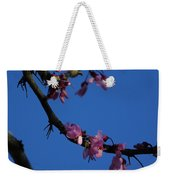 Pink Flowers With A Touch Of Ice Weekender Tote Bag
