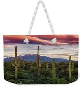 Pink Four Peaks Sunset  Weekender Tote Bag