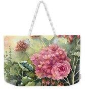 Pink Geranium's  Weekender Tote Bag
