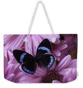 Pink Gerbera Daises And Butterfly Weekender Tote Bag