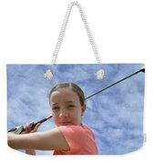 Pink Girl Pre Swing 02 Weekender Tote Bag
