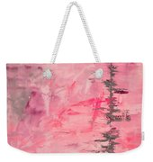 Pink Gray Abstract Weekender Tote Bag