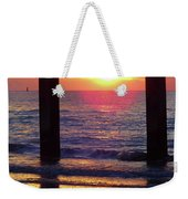 Pink Heart Sun Flare Clearwater Sunset Weekender Tote Bag
