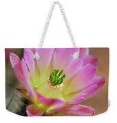 Pink Hedgehog Cactus Weekender Tote Bag