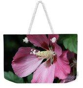 Pink Hibiscus Cose -up Weekender Tote Bag